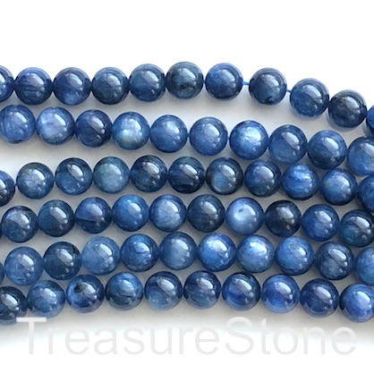 Bead, kyanite, 8mm round, grade B. 15.5-inch, 50pcs