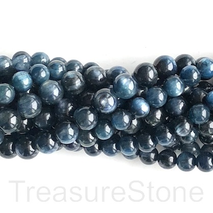 Bead, kyanite, 8mm round, grade B-. 15.5-inch, 52pcs