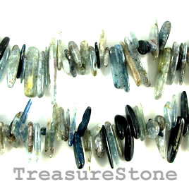 Bead, kyanite, 16 to 24mm top-drilled sticks. 15.5-inch strand.