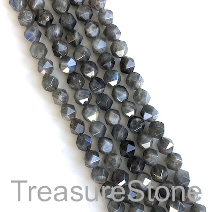 Bead, labradorite, 7x8mm faceted. 15.5-inch, 49pcs
