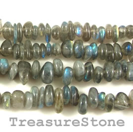 Bead, labradorite, 7 to 9mm nugget. 15.5 inch strand.