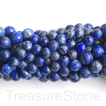 Bead, lapis lazuli, 10mm, faceted round. 15-inch, 39pcs