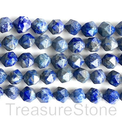 Bead, Lapis Lazuli, 8mm faceted, star cut. 15.5 inch, 45pcs