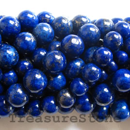 Bead, lapis, 10mm round. 16 inch strand. - Click Image to Close