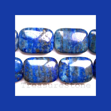 Beads, Lapis Lazuli, Flat Rectangle 22x30mm. 16 inch strand