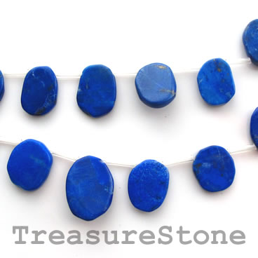 Bead, Lapis Lazuli, top-drilled, 9x11 - 13x16mm, 23pcs