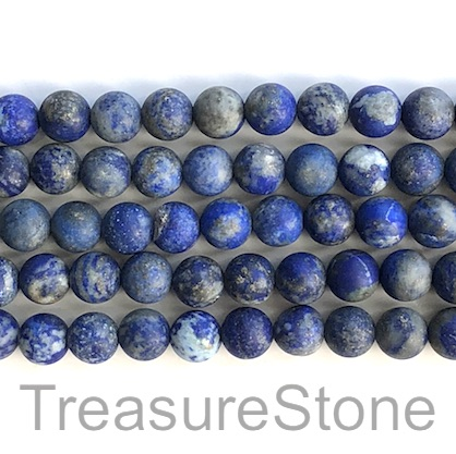 Bead, Lapis Lazuli, natural, 8mm round matt. 15.5 inch, 47pcs.