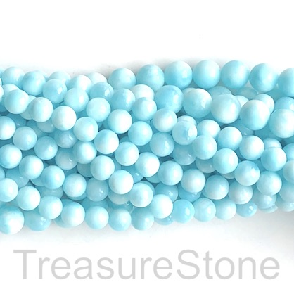 Bead, Larimar, natural, B grade, 10mm round. 15.5 inch, 39pcs