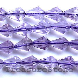 Bead, amethyst, hand-cut faceted diamond, 16-inch strand
