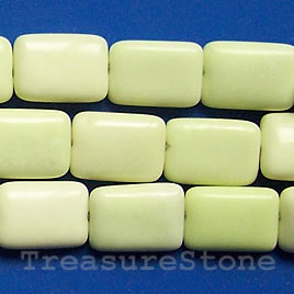 Bead, lemon jasper, 10x14mm flat rectangle. 16 inch strand.