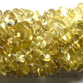 Bead, lemon quartz, 16x9mm nugget. 15-inch strand.