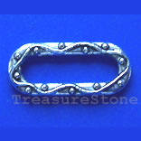 Bead, antiqued silver-finished, 20x9mm. Pkg of 15.