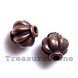 Bead, antiqued copper-finished, 7.5mm. Pkg of 15.