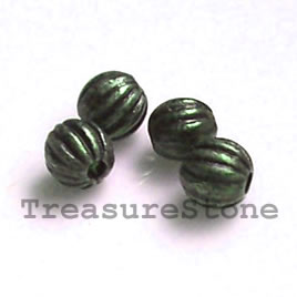 Bead, antiqued brass finished, 3.5mm. pkg of 30.