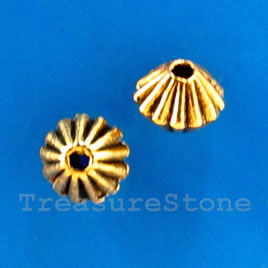Bead, antiqued gold-finished, 5mm. Pkg of 25.