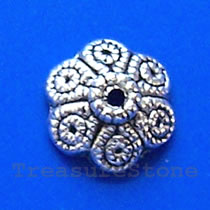 Bead cap, antiqued silver-finished, 12mm. Pkg of 20