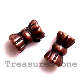 Bead, copper-finished, 3x6mm. Pkg of 25.