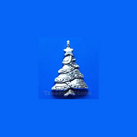 Pendant/charm, 18x25mm Christmas Tree. Pkg of 8.