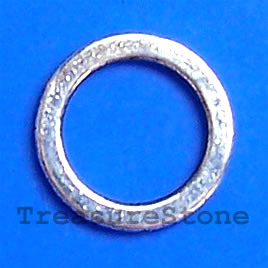 Bead, antiqued silver-finished, 13 circle. Pkg of 20.