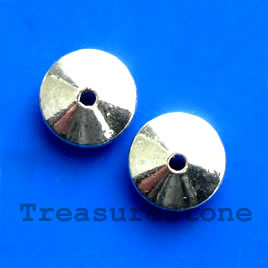 Bead, antiqued silver-finished, 5x12mm. Pkg of 10.