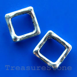 Bead frame, antiqued silver-finished, mm. Pkg of 12