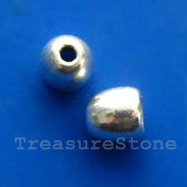 Cone, antiqued silver-finished, 6mm. Pkg of 20.