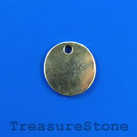 Charm/pendant, silver-plated, 16mm disk. Pkg of 12.