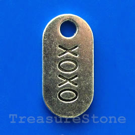 Clasp, toggle, antiqued silver-finished, 13/20mm. Pkg of 11.