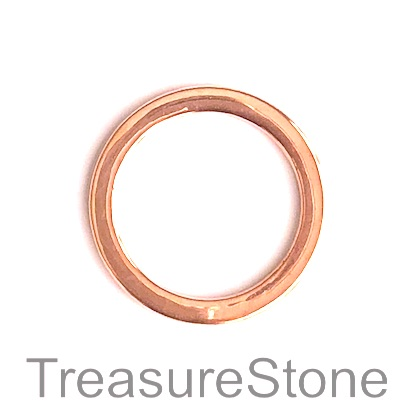 Bead, rose gold-finished, 32mm circle. pkg of 3.