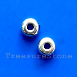 Bead, antiqued silver-finished, 1.5x4mm. Pkg of 40.