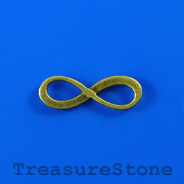 Charm/pendant/link, 8x23mm infinity. Pkg of 9.
