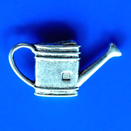Pendant/charm, silver-finished,14x27mm water bucket. Pkg of 10.