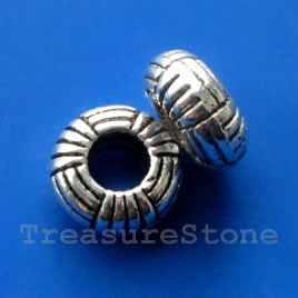 Bead, elastic center, 11mm, large hole:4.5mm. 16pcs