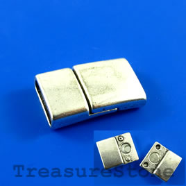 Clasp, magnetic, 14x24mm. Pkg of 2 pairs.