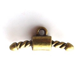 Pendant/charm, brass-finished, 22mm coat hanger. Pkg of 10.