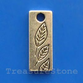 Pendant/charm, silver-finished, 8x20mm. Pkg of 8.