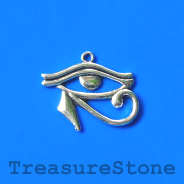 Charm/pendant, eye of horus, 24x30mm. Pack of 4