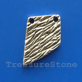 Pendant/charm, silver-finished, 15x20mm. Pkg of 5.