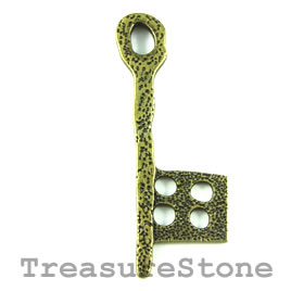 Pendant, brass-finished, 62mm key. Each.
