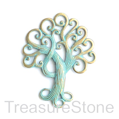 Pendant, patina coloured, 58x74mm Tree of Life. Each.