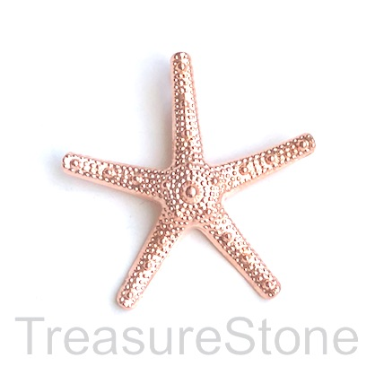 Pendant, rose gold-finished, 58mm starfish. Each