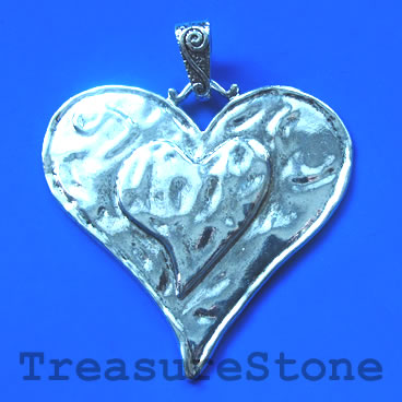 Pendant, 65mm Love Heart. Each.