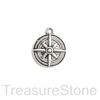 Charm/Pendant, 15mm compass. Pack of 10.