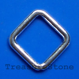 Bead frame, antiqued silver-finished, 21x2mm. Pkg of 12.