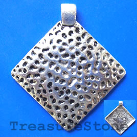 Pendant, silver-finished, 54mm. Sold individually.