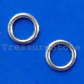 Bead, antiqued silver-finished, 8.5mm circle. Pkg of 30.