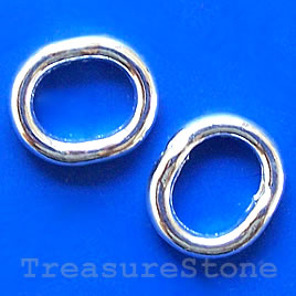 Bead frame, silver-finished, 12x15mm. Pkg of 8,