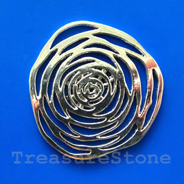 Pendant, silver-finished, 54mm rose. Sold individually.