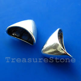 Cone, antiqued silver-finished, 20x18mm. Pkg of 4.