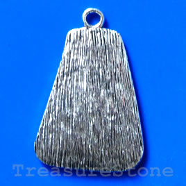 Pendant/charm, silver-finished, 28x35mm.Pkg of 2.